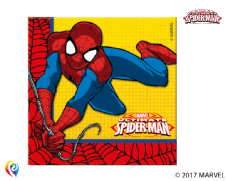 16 Spiderman Paper Party Napkins